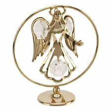 GUARDIAN ANGEL Gold Ornament Crystal Swarovski Elements By Crystocraft SP569