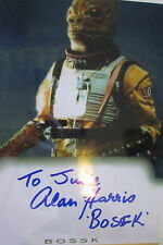 8x5 Hand Signed Photo Star Wars Bossk - Alan Harris