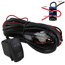 40 Amp Off Road ATV/Jeep Front/Fog/Work Light Wiring Harness Relay ON/OFF Switch