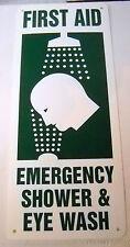 New Vertical Plastic First Aid Emergency Shower & Eye Wash