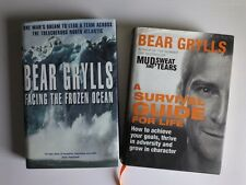 BEAR GRYLLS BOOKS A SURVIVAL GUIDE FOR LIFE & FACING THE FROZEN OCEAN Hardbacks