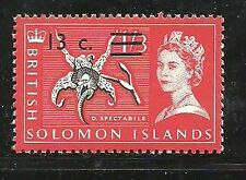 Album Treasures Solomon Islands Scott # 159  13c on 1sh3p Elizabeth  MNH