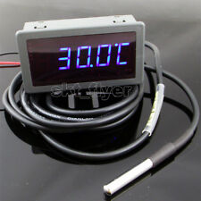 2m F/C Blue LED Digital Car Water Temp Meter Gauges Thermometer DS18B20 Sensor
