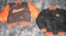 REEBOK CLEVELAND BROWNS REVERSIBLE JACKET COAT Y L NEW