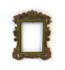Unusual ornate baroque style cast resin faux gilt photo frame