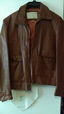 VINTAGE MEN'S LEATHER JACKET by GOLDEN STATE LEATHER FASHIONS brown SZ 38 ZIPPER