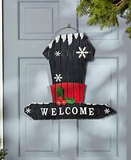 "Attraction Design Christmas Oversized Winter Hat Welcome Sign Decor 22.5""H X21""L"