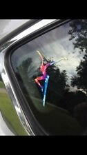 Rainbow Tie-dye Firedancer Vinyl Decal Sticker