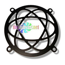 "80mm Laser Cut Fan Grill Guard Jet Black ""Atomic"""