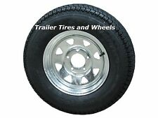 "175/80D13 LRC 6 PR AR Bias Trailer Tire on 13"" 5 Lug Galvanized Wheel B78-13"