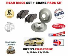 FOR SUBARU IMPREZA 2.0 TURBO EJ205 1994-2000 NEW REAR BRAKE DISCS SET+ PADS KIT