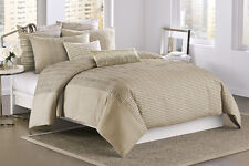 DKNY CITY RHYTHM LINEN 3PC SET, 1 QUEEN DUVET COVER 2 STANDARD SHAMS