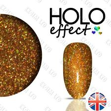 LASER HOLO MERMAID EFFECT NAIL ART DUST Holographic   Egyptian Gold 16