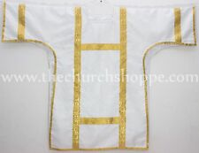 New Dalmatic White  vestment with Deacon's stole & maniple ,Dalmatic chasuble