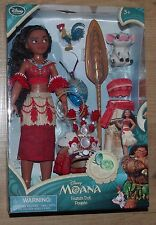 Disney Store Moana Singing Doll Vaiana Pua Hei Hei extra outfit dress necklace