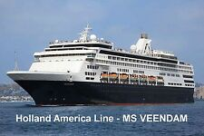 SOUVENIR FRIDGE MAGNET of CRUISE SHIP VEENDAM - HOLLAND AMERICA LINE