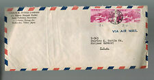 1952 Japan Commercial Airmail cover to Vermont USA # C 11 & 540