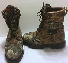 Irish Setter Camouflage Hunting Boots Size 8EE Extra Wide Woods Forest Insulated