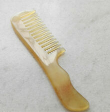 "6.7""YaYa Smooth Natural Ram's Horn Unisex Wide-toothed Handhold Health Care Comb"