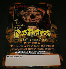 """DESTRUCTION & DISMEMBER 2000 TOUR POSTER DOUBLE SIDESD RARE HTF OOP 11"""" X 17"""""""