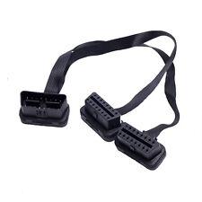 Flach OBD 2 Verlängerung  1zu 2 Kabel OBDLink 7 etc Diagnose Interface