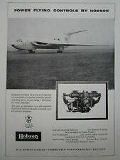 8/1960 PUB HM HOBSON POWER FLYING CONTROLS HANDLEY PAGE VICTOR ORIGINAL AD