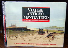 Viaje al ANTIGUO MONTEVIDEO Photos Drawings SIGNED Carlos Menck Freire URUGUAY