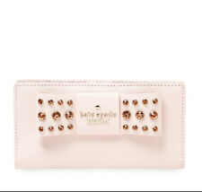 NEW KATE SPADE New York NY Davies Mews Stacy Leather Clutch Embellished Wallet
