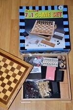 Deluxe 7 en 1 Conjunto de Juego-Ajedrez Damas Backgammon dominó cribbage CA dados del póker