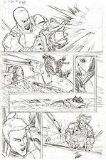 G.I. Joe #8 p 2 ORIGINAL Pencil Art  Roadblock Shipwreck Steve Kurth
