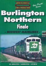 Burlington Northern Finale Midwest Mainlines DVD NEW Broken Knuckle BN CBQ SF