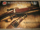 NRA NATIONAL FIREARMS MUSEUM 2014 OVERSIZED 16 Month WALL CALENDAR SS SEALED