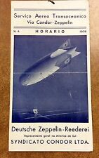 {BJ Stamps} 1936 Condor  Hindenburg ZEPPELIN TIMETABLE RATE SCHEDULE Portuguese