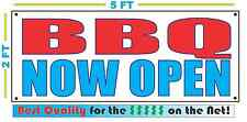 BBQ NOW OPEN Banner Sign NEW Larger Size Best Quality for the $$$