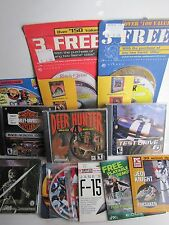 10+ PC CD-ROM Games+Demos Kings Quest-Test Drive-Harley-Stonekeep-Jedi Knight+++