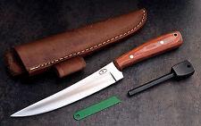 CFK Custom Handmade D2 Orange Micarta Caping Boning Skinning Knife Fire Starter