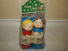 Vintage Christmas Carolers Choir Singers Figurine Still in Original Wrap Japan