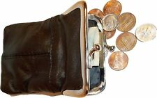 New women's leather change purse coin purse money bag coin wallet coin case BNWT