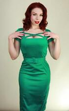 MOdcloth Heart of Haute Velma Dress NWT XL emerald Green pinup Retro criss cross