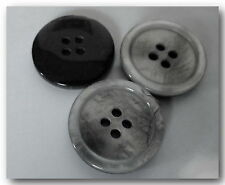 6 BOUTONS  GRIS * 22 mm 2,2 cm * 4 trous * Gray Button sewing neuf lot couture