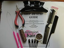 Braidless Invisable Weave Micro ring training kit for Weft Hair Extension kit