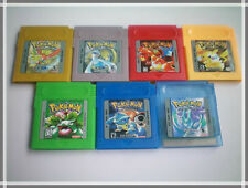 Pokemon cartridge for Nintendo Game Boy Console-Yellow Green,Blue,Red,Silver