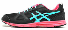 Asics Girls Lil' Muse Fit Sneaker Black Raspberry Turquoise C451N Big Kid 6.5 M