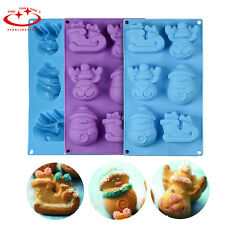 Christmas Silicone Mold Snowman Boots Elk Cake Mold Cookie Chocolate Soap Mould