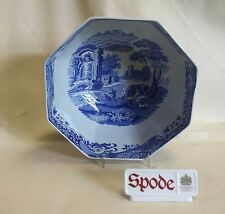 """SPODE BLUE ITALIAN OCTAGONAL 10"""" BOWL MADE IN ENGLAND *NEW*"""