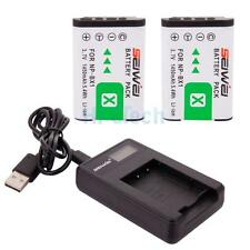 Battery Set for Sony CyberShot DSC RX100 II III HX50V WX300/ 2x NP-BX1 + Charger