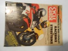APRIL 1986 CYCLE GUIDE MAGAZINE,ROBERTS VS COOLEY ,RACE VS STREET BIKES