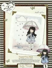 BOTHY THREADS GORJUSS PUDDLES OF LOVE COUNTED CROSS STITCH KIT 16x21cm - NEW