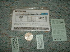 Walthers  decals N Box Car 93-48 Union Pacific black  F104