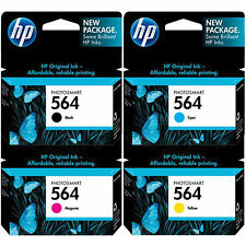 4 Pack Genuine HP 564 Set Ink Cartridges Black Cyan Magenta Yellow C7560